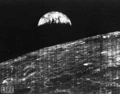 On Aug. 23, 1966, humanity welcomed its first view of Earth taken by a spacecraft from the vicinity of the Moon. The photo was transmitted to Earth by NASA's unmanned Lunar Orbiter I — a robotic surveyor sent into orbit to map possible lunar landing sites years before the Apollo program — and was received at a NASA tracking station near Madrid, Spain... LIFE.com presents other remarkable, moving, humbling photos of our lonely blue and green planet taken from the depths of space.