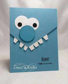 SC616 Monster Hello by DandI93 - Cards and Paper Crafts at Splitcoaststampers