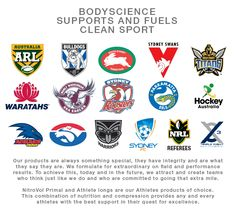 Nutrition and Compression Sports Science partners 2015.