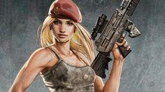 #blonde #Girl #Gun