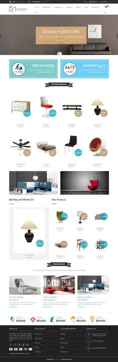 Cendo is Responsive HTML Furniture Template is a clean and elegant design – suitable for selling #furniture #Interior #design products or any kind of online shop eCommerce #website.