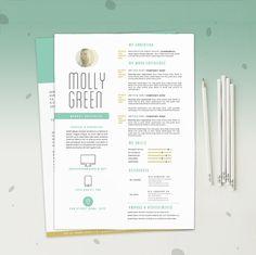 "Resume CV Template + Cover Letter Design for Word | Instant Digital Download | The ""Inocula"""