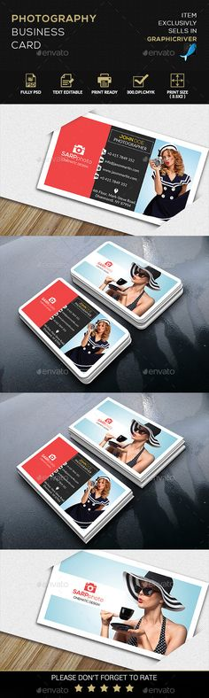 Fashion Photography Business card Template #printdesign #visitenkarte Download: http://graphicriver.net/item/fashion-photography-business-card/12059654?ref=ksioks