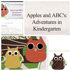new blog with ideas for Kindergarten (can be adapted for preschool)