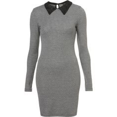 TOPSHOP Lace Collar Tweed Print Dress ($72) ❤ liked on Polyvore