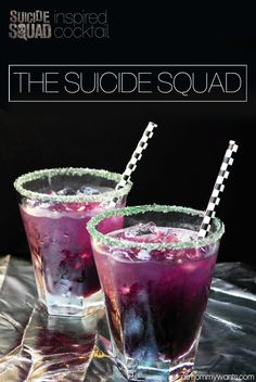 012.6k8010 I am SUPER excited to see Suicide Squad – in theaters August 5th! So excited that this Purple Joker cocktail would be a perfect drink to have for it! Here's everything you need to make it. Serving size is 1 8oz glass! You'll also need a bar shaker and a couple of shallow plates. Be …