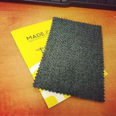 There is something quite nice about receiving material colour swatches. - @MadeDotCom #furniture #grey #green #anthracite