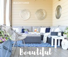 If you don't live in paradise, bring the paradise to you! Adding little accents to your space really help to show your personality and style. Making it easy to transform a boring, outdoor patio to an entertaining, charismatic, space.
