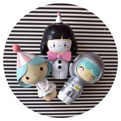 Birthday Girl, Funny Girl & Explore Momiji Dolls Inside each on is a tiny card for a hand-written message, dream or wish. Thanks to @bywonderland for the photo.