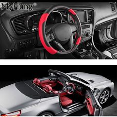 Car-styling High-grade Leather car steering wheel sets Leather Steering Wheel Covers Car Interior Accessories 1PC Car Covers  #Affiliate