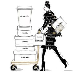 I have too much Chanel - said NO ONE EVER! Today requires only one kind of coffee - The Chanel Takedown! #MeganHessCoffeeGirls
