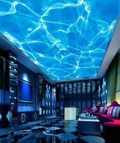 Home Cinema Room, Home Theater Rooms, Ceiling Murals, Floor Murals, Dream Home Design, House Design, Studio Design, Gaming Room Setup, Gaming Rooms