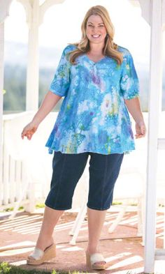 Our plus size Paloma Top provides a roomy fit for all day comfort.
