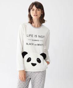 Camiseta panda - Novedades - Tendencias AW 2016 en moda de mujer en Oysho online: ropa interior, lencería, ropa deportiva, pijamas, moda baño, bikinis, bodies, camisones, complementos, zapatos y accesorios.