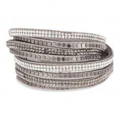 Bracelet suédine gris