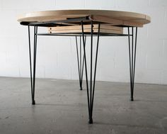 Willy van der Meeren Style BIRCH DINING TABLE with HAIR PIN LEGs ...