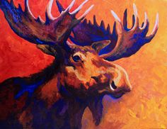 Moose Painting - Noble Pause by Marion Rose Art Prints, Art Painting, Animal Art, Moose Painting, Painting, Art, Animal Paintings, Canvas Art, Framed Art Prints