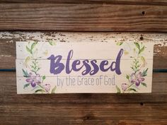 """We are all so blessed by the grace of God. Depth: 1.75"""" Width: 12"""" Height: 4.5"""""""