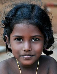 Girl in India by Joe Routon I wonder if she's an Indian of African Descent