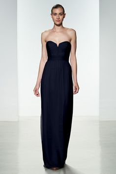 Bridesmaid Dress #G969 in Navy. Amsale