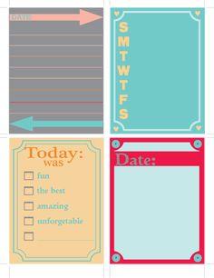 A Southern Lady's Ramblings: Free Printable Journaling Cards Set 1