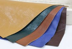 5pcs Leather Offcuts, Mixed Colors Leather Scraps,Genuine Leather Remnants
