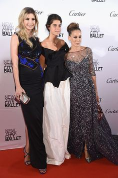 LR Ivanka Trump Leandra Medine and Sarah Jessica Parker attend the 2015 New York City Ballet Fall Gala at the David H Koch Theater at Lincoln Center...