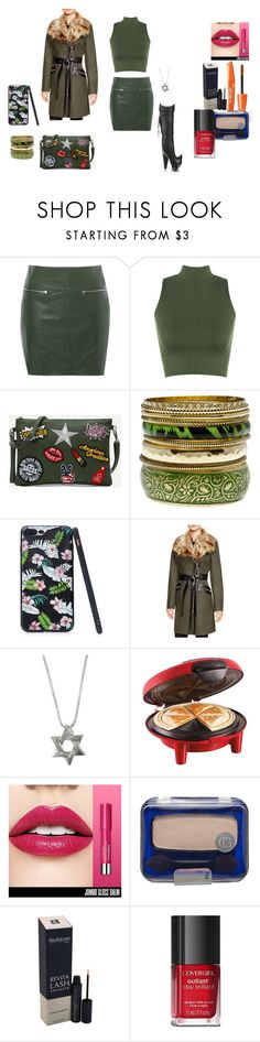 """""""Olive color look  contest  VLLL"""" by naomig-dix ❤ liked on Polyvore featuring Glamorous, WearAll, Via Spiga, Hamilton Beach and COVERGIRL"""