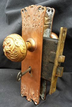 Antique Victorian Solid Brass Emblematic McCormick Doorknob | Antiques,  Victorian And Brass