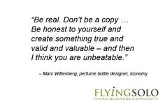 Marc Wittenberg's line of work is about as niche as it gets. He shares his insights on why being unique is so important in business, and how to do it.  #businessadvice #fragrance #perfume #inspiration #design #packaging #quote