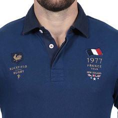 Mens Polo T Shirts, Boys Shirts, Camisa Polo, Polo T Shirt Design, France Rugby, Polo Outfit, Shirt Embroidery, Shirt Style, Shirt Designs
