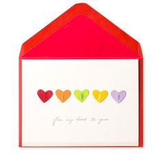 """From My Heart To Yours"" Rainbow Hearts Price $3.95"