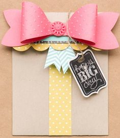 Gift Bow Big Shot Die - Available now. Preferred pricing www.janetwakeland.stampinup.net