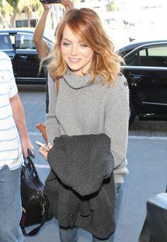 Emma stone light copper hair color