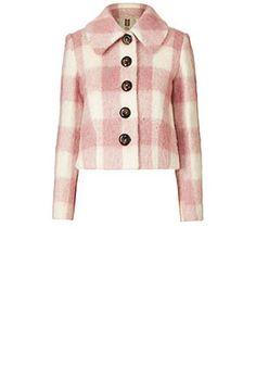 Brushed Check Charlie Jacket Pink & Cream