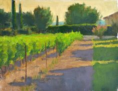 """Evening at the End of the Road - Oil on canvas, 9"""" x 12"""""""