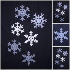 Snowflakes hama perler beads