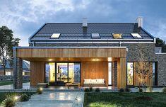 Projekt domu Rumba 130,27 m2 - koszt budowy 192 tys. zł - EXTRADOM Beautiful House Plans, Bungalow Renovation, Barns Sheds, Barn House Plans, A Frame House, Facade House, House Goals, Cottage Homes, Design Case