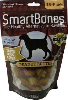 DOG TREATS - ALL OTHER - SMARTBONES PEANUT BUTTER MINI - 16 PACK