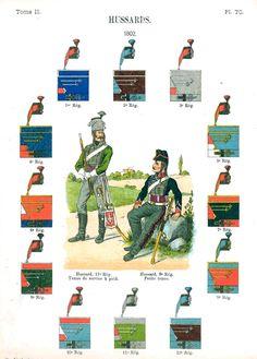 Гусары. 1802 Uniformes de I'Armee Francaise 1690-1894 Lienhart & Humbert