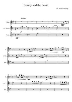 Sheet music made by awsom123445 for 3 parts: Flute, B Clarinet, Violin