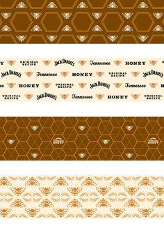 Jack Daniel's Tennessee Honey by Nathan Hinz, via Behance