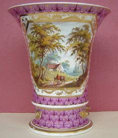Derby Porcelain Flower Pot Named View Perthshire Royal Crown Derby, Tea Service, Fine Porcelain, Dresden, Vanities, Vintage Home Decor, Flower Pots, 19th Century, 18th
