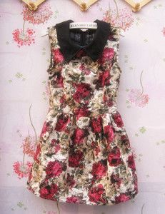 $11.88 lapel print floral dress from zzkko.com