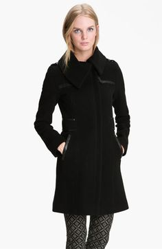 Yes - I really needed a wool coat too. My black one is trashed after 5 years! (Mackage Leather Trim Wool Blend Coat available at Nordstrom)