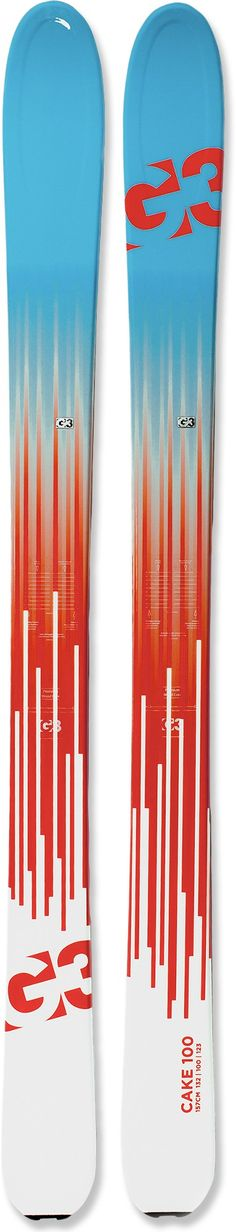 Frontcountry to back, the G3 Cake 100 telemark/randonee skis are the brand's most versatile women's skis.