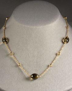 QUARTZ (olive) - Di Modolo Olive Quartz Necklace in 18YG