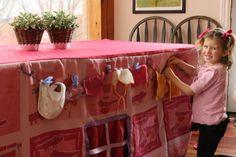 tafeltent met waslijn, super idee!