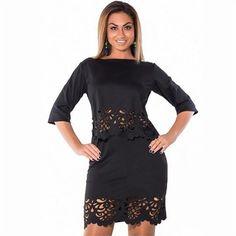 Curvy Girl Hollowed Out Skirt Set