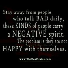 Indeed..those people that always have something negative and nasty to say about others are miserable with themselves